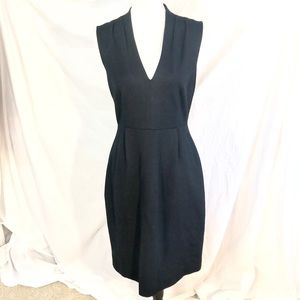 ♠️Kate Spade Black Stretch Knit VNeck Party Dress